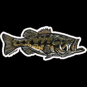 Bass Fishing Stickers Largemouth Bass Decal