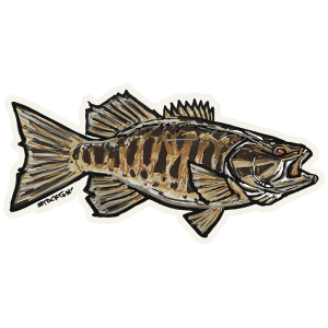 Bass Fishing Stickers Smallmouth Bass Decal